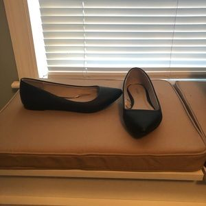 EXPRESS black pointed toe flats, WORN ONCE